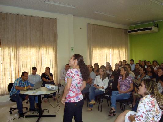 As turmas reunidas na apresentação das propostas para a agenda
