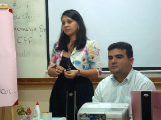 Os tutores Amanda e Pablo